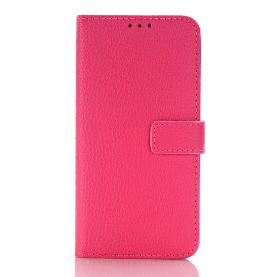 Étui en cuir pour Samsung Galaxy S7 Edge rouge