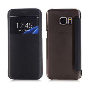 Lederhülle Samsung Galaxy S7 Edge schwarz