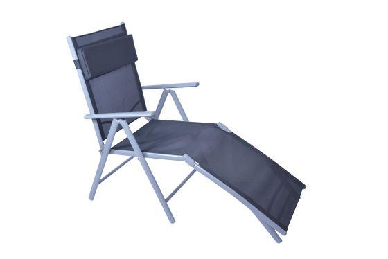 Chaise longue de jardin en aluminium