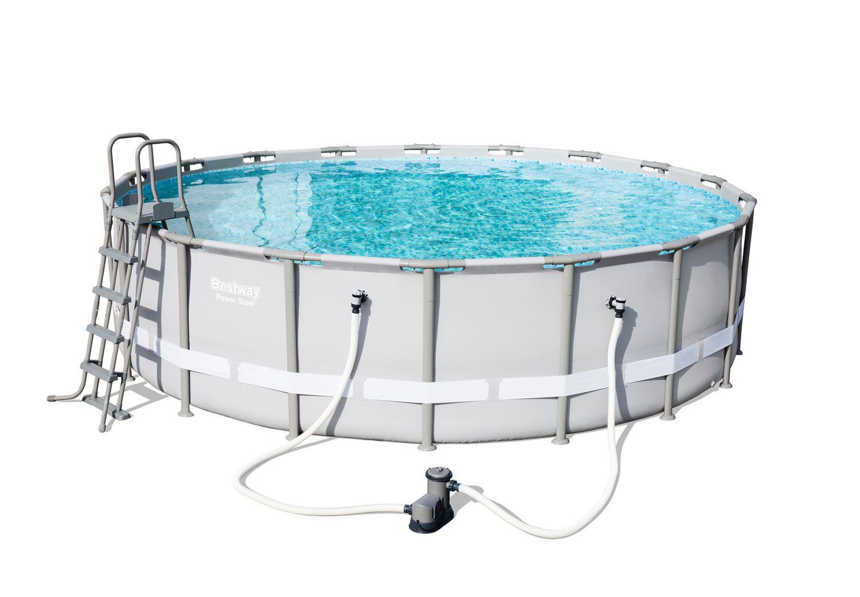 Bestway swimming pool set mit stahlrahmen 549 x 132 cm - Pool mit stahlrahmen ...