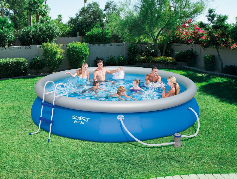 bestway swimming pool set 457 x 84 cm online shop gonser. Black Bedroom Furniture Sets. Home Design Ideas