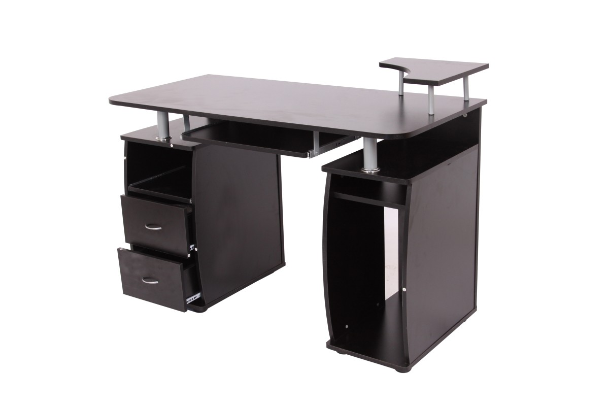 table de bureau avec tiroirs magasin en ligne gonser. Black Bedroom Furniture Sets. Home Design Ideas
