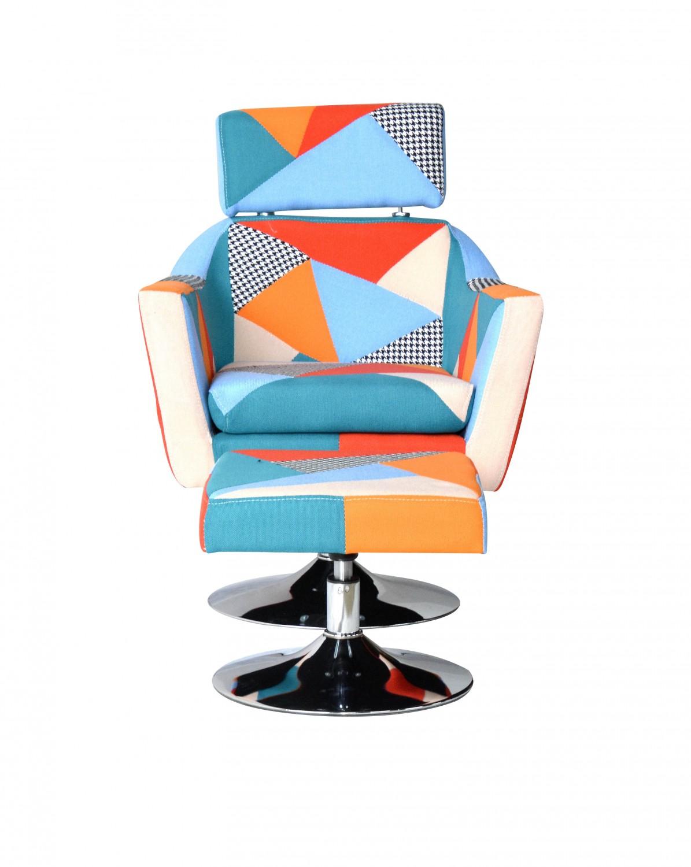 patchwork sessel mit hocker online shop gonser. Black Bedroom Furniture Sets. Home Design Ideas