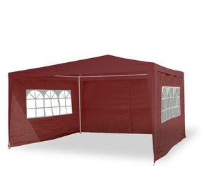 Gartenpavillon Partyzelt 3x4 m rot