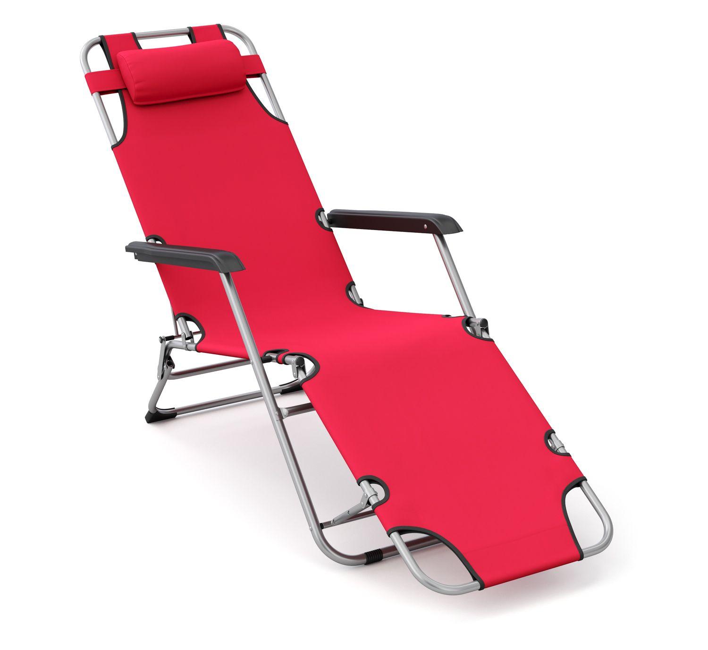 Liegestuhl Campingstuhl rot