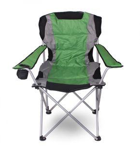 Luxus Campingstuhl grün