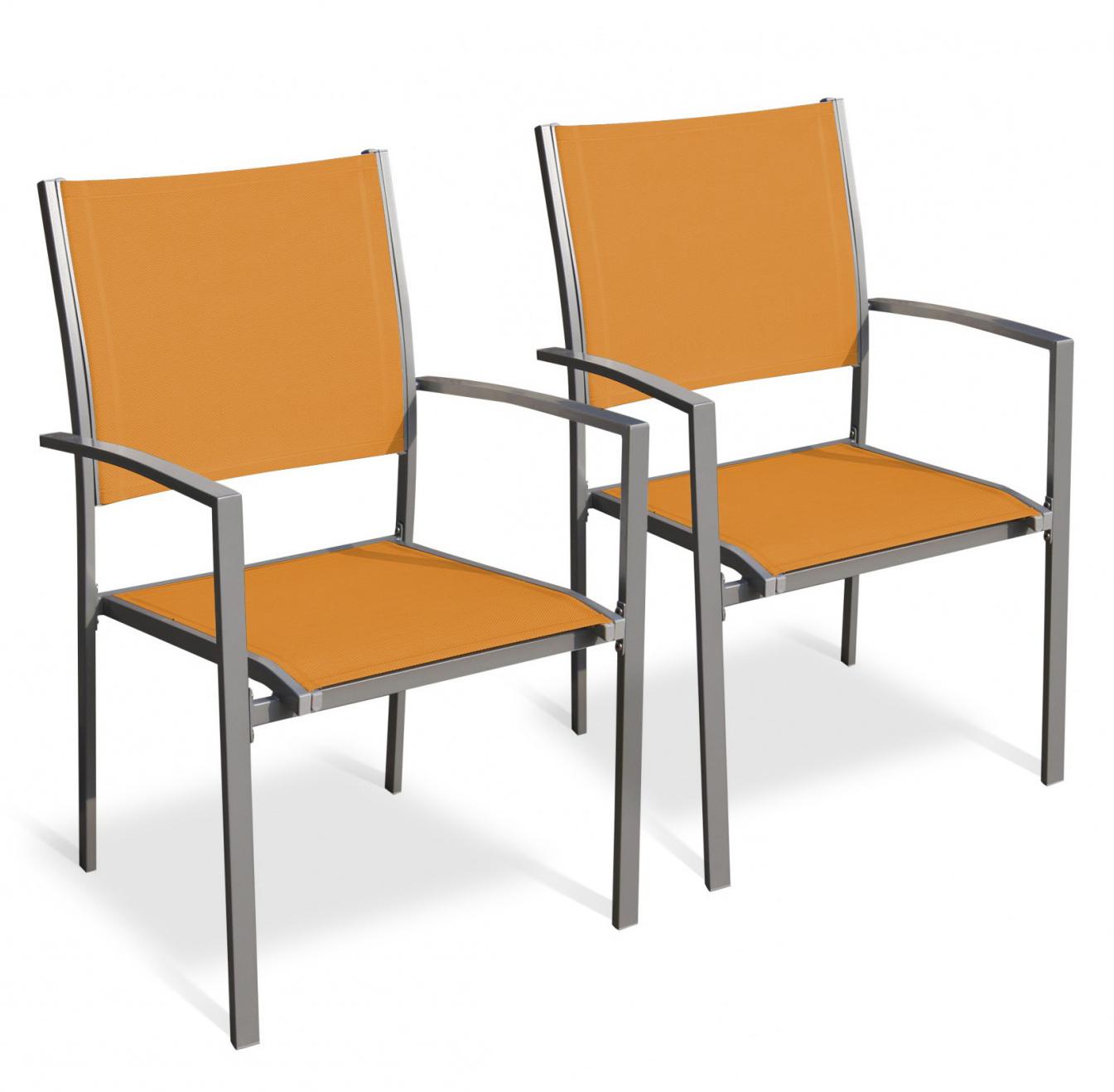 Gartenstühle Doppelpack orange