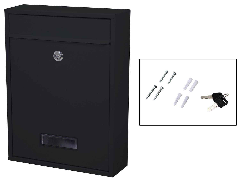 Briefkasten 26 x 35 cm schwarz