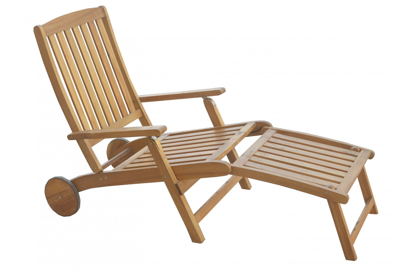 chaise longue de jardin en bois d 39 acacia magasin en ligne gonser. Black Bedroom Furniture Sets. Home Design Ideas