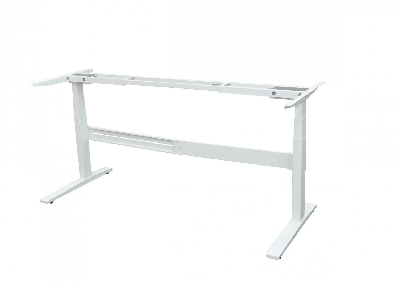 bureau r glable en hauteur gris blanc magasin en ligne gonser. Black Bedroom Furniture Sets. Home Design Ideas