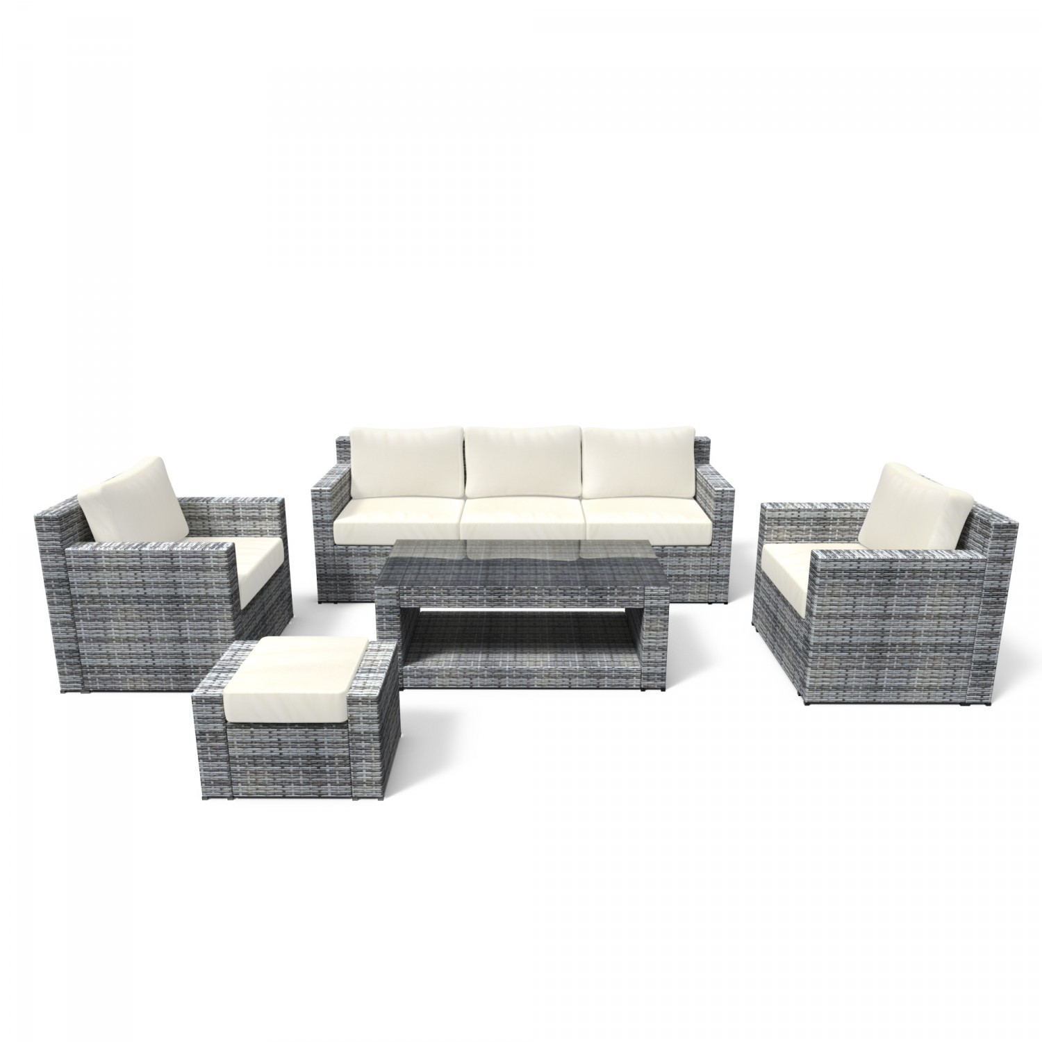 gartenm bel rattan lounge manila grau online shop gonser. Black Bedroom Furniture Sets. Home Design Ideas