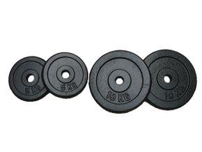 Hantelscheiben Gusseisen-Set 2x10kg + 2x5kg = 30 kg total