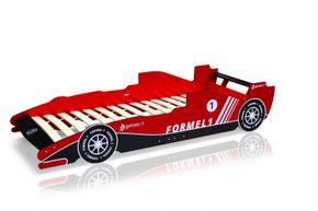 Lit d'enfant voiture de course rouge