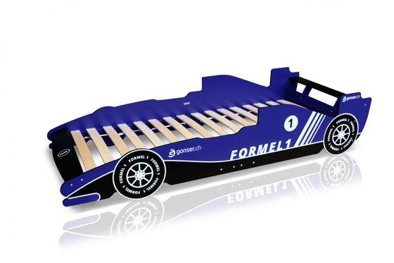 Kinderbett Rennwagen Bett Racer blau