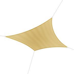 Voile d'ombrage carré 5 x 5 m beige