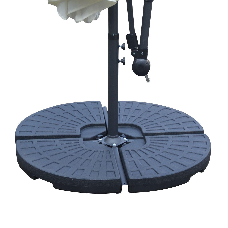 socle pour parasol suspendu 4 pcs magasin en ligne gonser. Black Bedroom Furniture Sets. Home Design Ideas