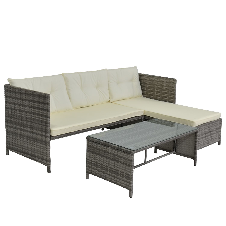 Rattan lounge grau  Rattan Lounge NEVADA grau | Online Shop Gonser