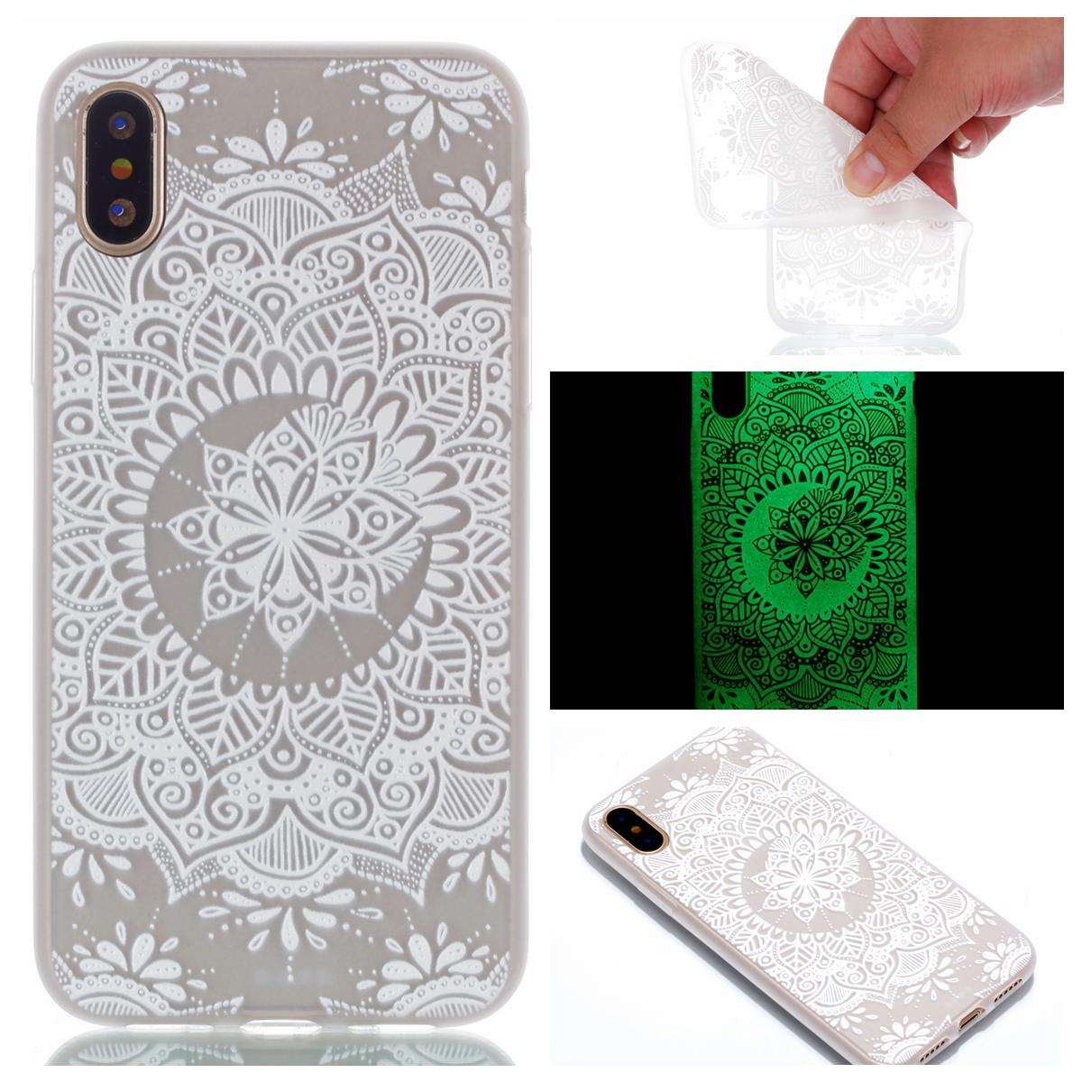 Handyhülle weiss Traumfänger leuchtend für iPhone X