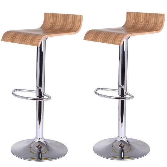 2 tabouret de bar bois