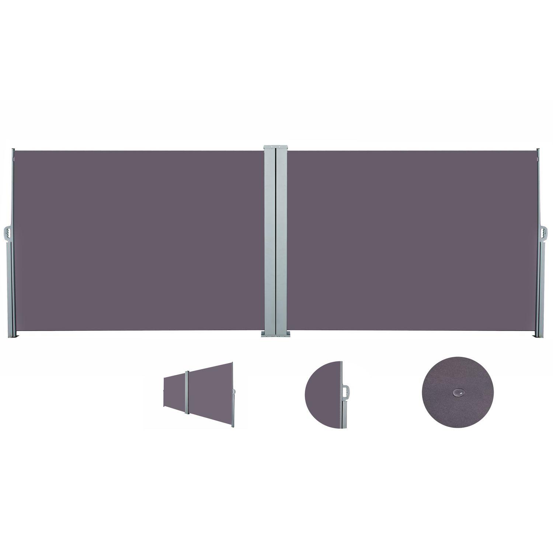 Doppelseitenmarkise 180 x 600 cm anthrazit