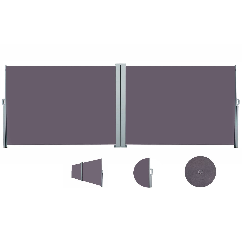 Doppelseitenmarkise 200 x 600 cm anthrazit