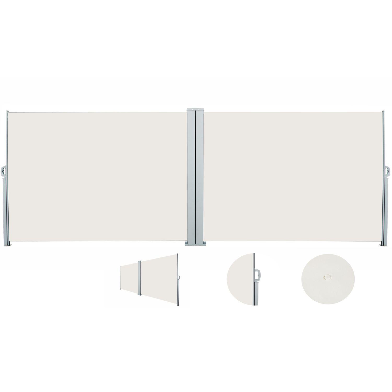 Doppelseitenmarkise 180 x 600 cm beige