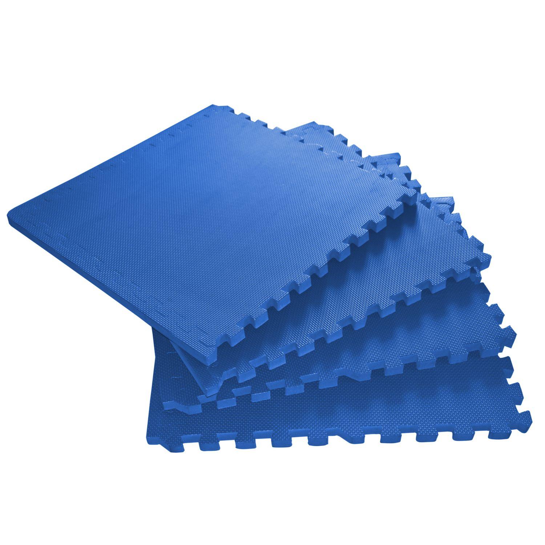 Bodenmatte 61 x 61 x 2 cm blau 4er Set