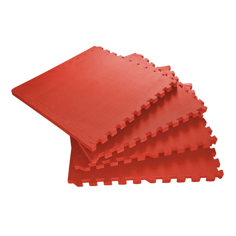 Bodenmatte 61 x 61 x 2 cm rot 4er Set