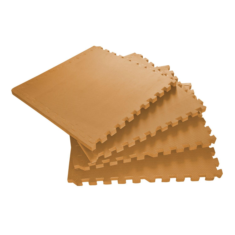 Bodenmatte 61 x 61 x 2 cm orange 4er Set