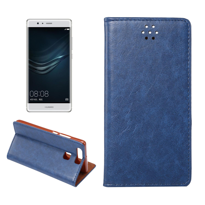 Lederetui für Huawei P9 blau