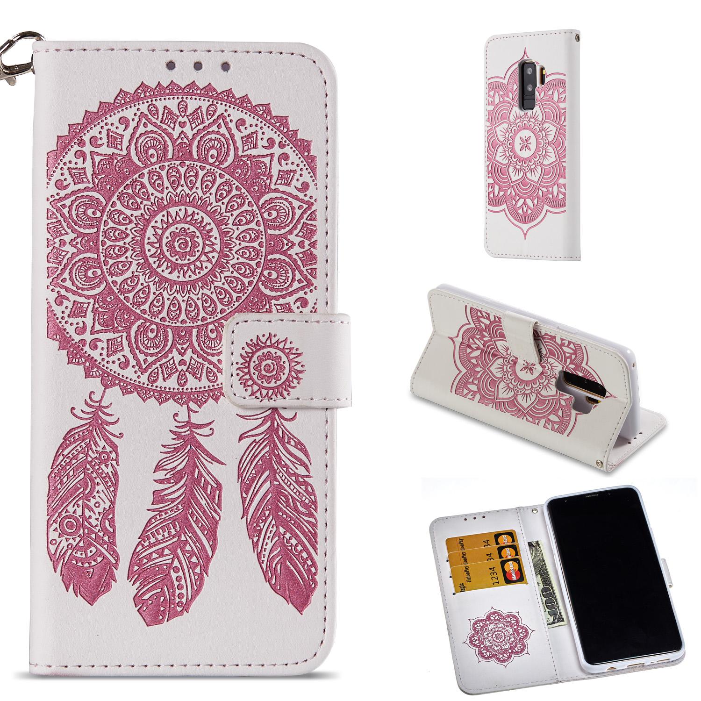 Lederetui Traumfänger rosa für Samsung Galaxy S9 Plus