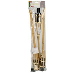 Fackel Bambus 3er Set
