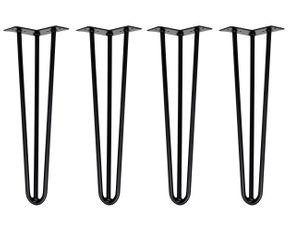 Hairpin Legs Tischbeine 45 cm schwarz 4er-Set