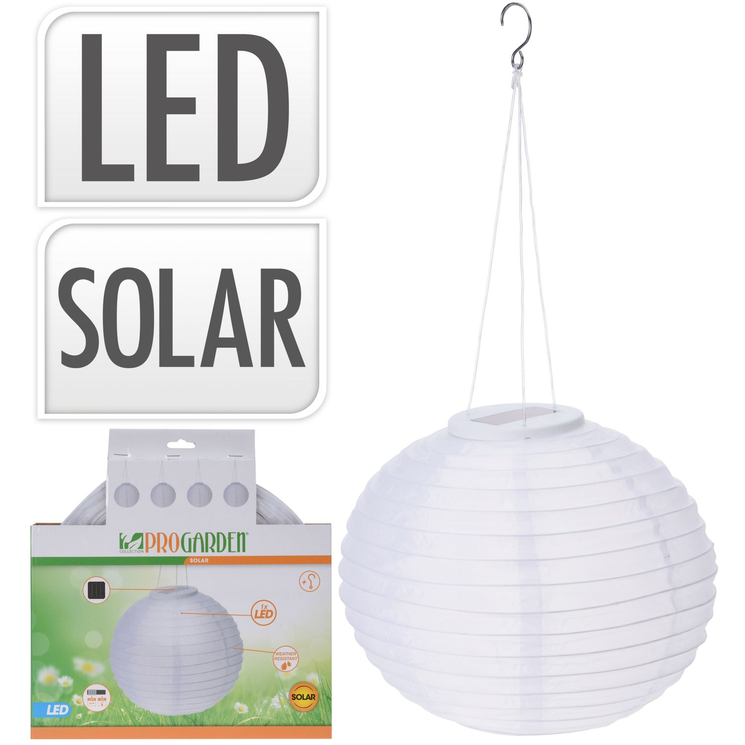 Solarlampion LED 28 cm