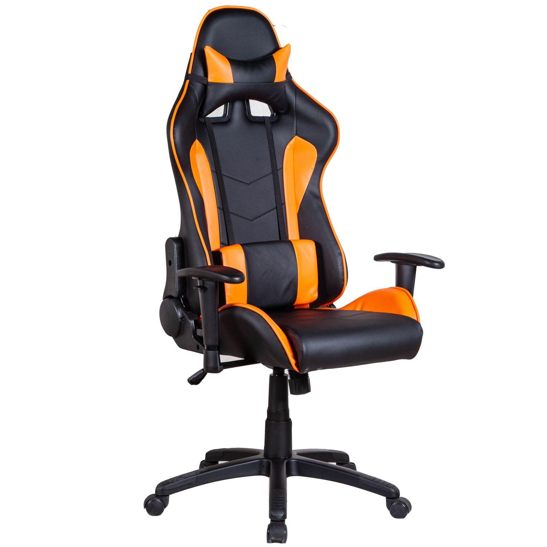 Gaming Stuhl Bürostuhl LIMITLESS schwarz orange