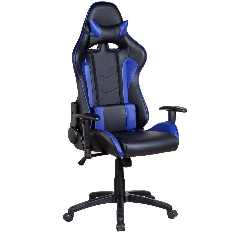 Gaming Stuhl Bürostuhl schwarz blau
