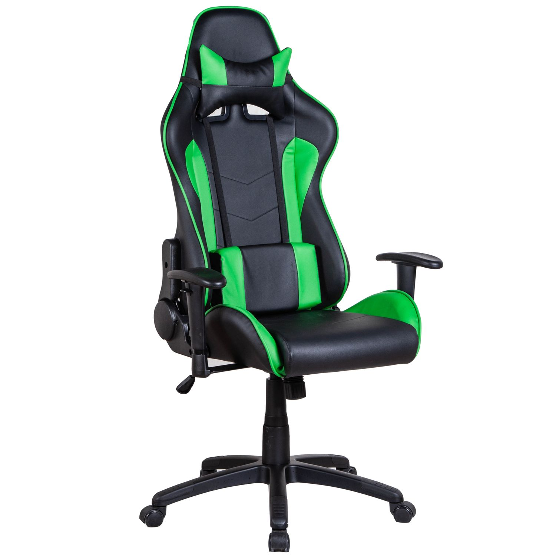 Gaming Stuhl Bürostuhl LIMITLESS schwarz grün