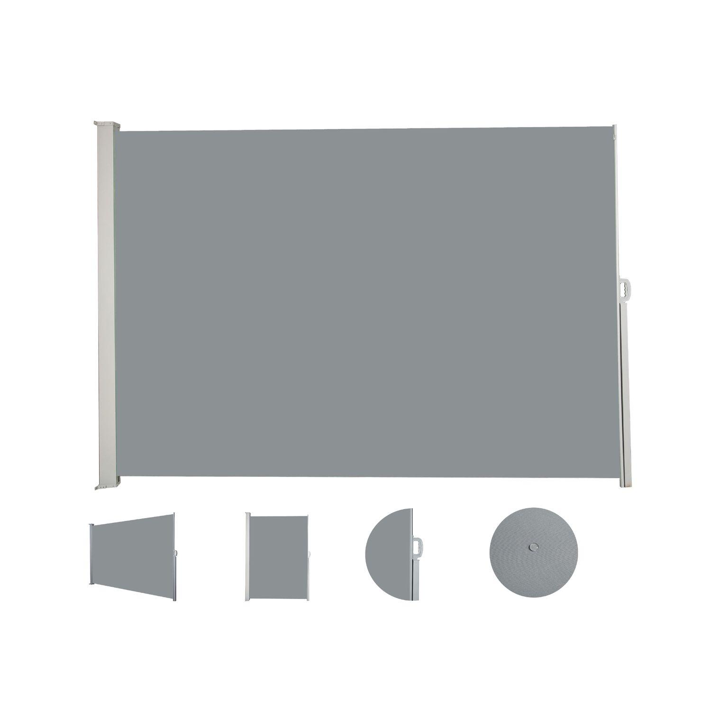 Seitenmarkise 160 x 400 cm grau