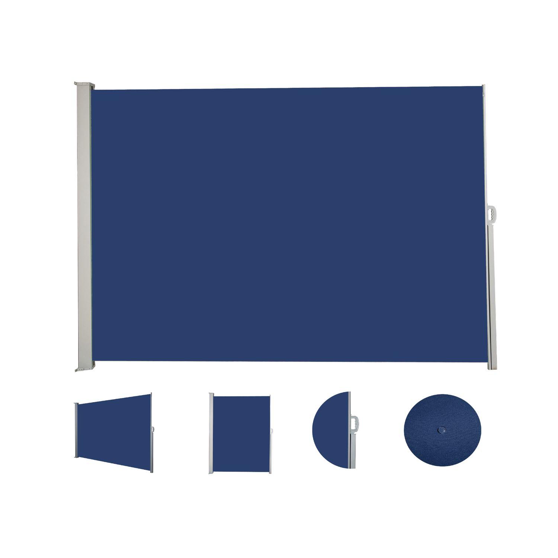 Seitenmarkise 180 x 400 cm blau