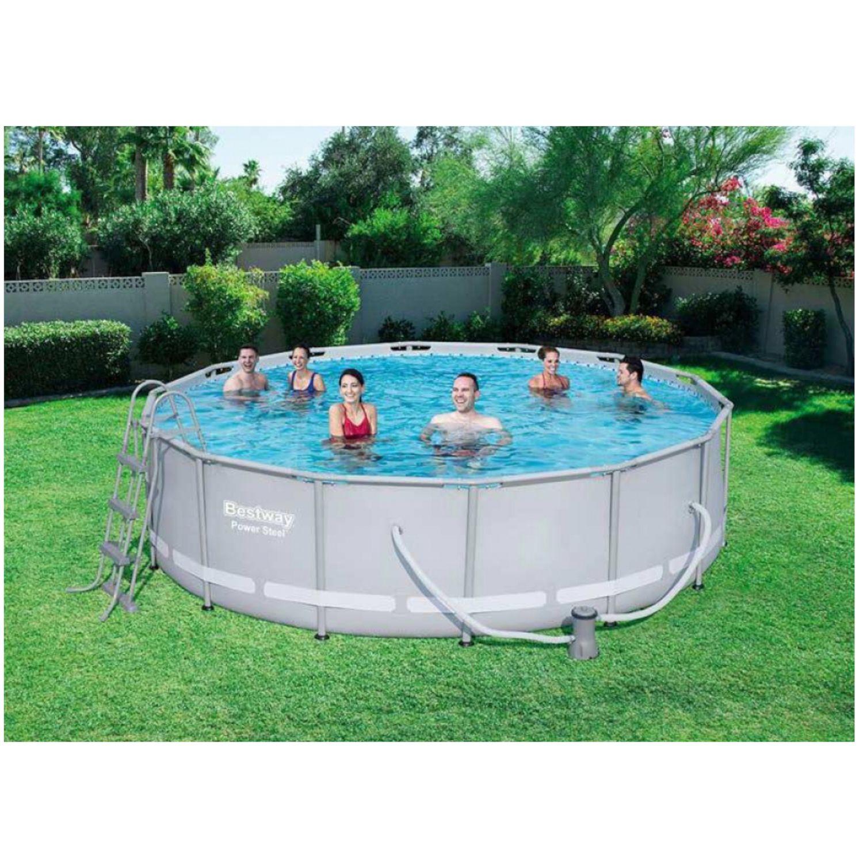 bestway swimming pool komplett set 427 x 107 cm online shop gonser. Black Bedroom Furniture Sets. Home Design Ideas