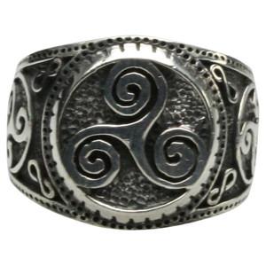 925er Silberring Motiv Triskele – Bild 1