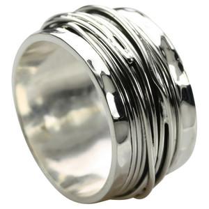 Breiter besonderer 925 Silberring neue Variante – Bild 1
