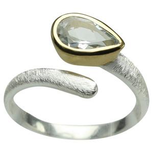 Zauberhafter 925er Silberring mit Aquamarin – Bild 1