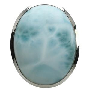 Imposanter 925er Silberring mit großem Larimar – Bild 2
