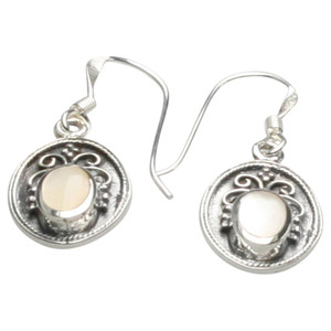 Filigrane Ohrringe aus Silber 925 mit Perlmutt – Bild 1