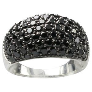 Besonderer 925er Silberring mit schwarzen Zirkonias – Bild 1