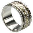 Feiner Drehring aus Silber 925 mit Kupfer 001