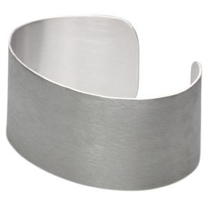 Breite massive mattierte Armspange aus Silber 925 – Bild 4
