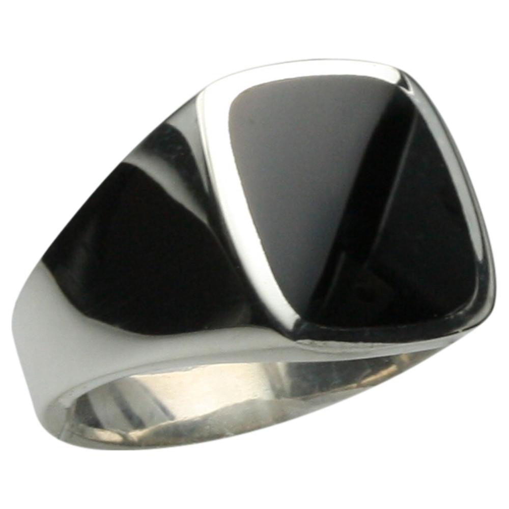Feiner Siegelring mit Onyx aus massivem Silber 925