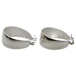 Polierte Creolen aus Silber 925 – Bild 1